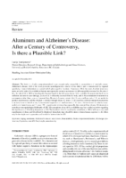 2011 Aluminum And Alzheimer S Disease Plausible Link