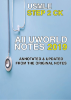 All Uworld Step Ck Notes 2019
