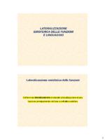 La Lateralizzazione Emisferica