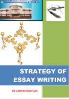 Strategy Of Essay Writing Dr Ashish Dash