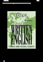 185 Topics And Sample Essays Toefl