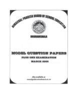 Himachal Pradesh 12Th Englısh Model Paper