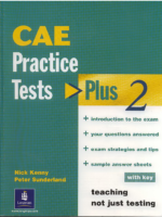 Cae Longman Practice Tests Plus 2 Black And White