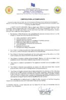 Cert Of Compliance Bfp Citizens Charter