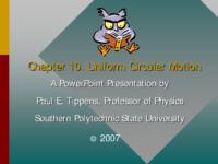 Circular Motion Centripetal Acceleration