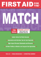First Aid For The Match (5Th Ed.)