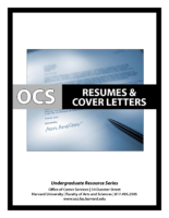Harvard Resumes And Cover Letters