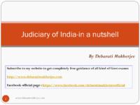 Judiciary Of India Debarati Mukherjee