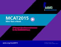 Mcat Minitest Ebook Possibly 12 New Extra Qs