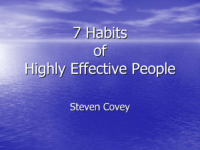 7 Habits Of Highly Effective People Whole Book İn 158 Slide Shows