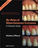 An Atlas Of Glass Ionomer Cements Graham J Mount