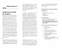 Budgeting Essentials For Students 2