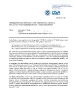 Cısa Guidance On Essential Critical Infrastructure Workers 1 20 508C