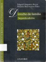 1 Derecho De Familia Edgad Baqueiro 2Da Edicion