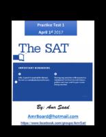 Sat Math Practice Tests-Amrboard 3