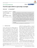Figo Essential Surgical Skills For A Gynecologic Oncologist
