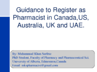 Guidance To Register As Pharmacist İn Ca