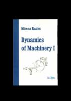 Dynamics Of Machinery I By Mircea Rades