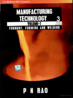 Manufacturing Technology By P N Rao Volume 1