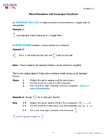5.3 Writing Mixed Numbers And Improper Fractions Notes